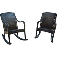 ORLEANS2PCRKR Outdoor Black Rocking Chair Pair - Orleans