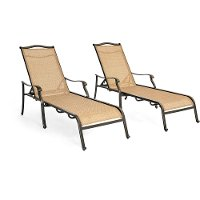 MONCHS2PC Outdoor Chaise Lounge Chair Pair - Monaco
