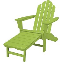 HVLNA15LI Outdoor Contoured Chair With Ottoman - Adirondack