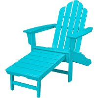 HVLNA15AR Outdoor Contoured Chair With Ottoman - Adirondack