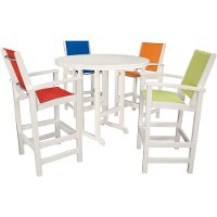 NASSAU5PC Outdoor 5 Piece High Dining Set - Nassau