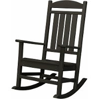 HVR100BL Black Outdoor Porch Rocker - Rocker