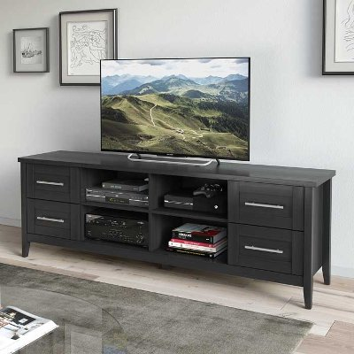 Black Extra Wide 70 Inch TV Stand  Jackson Tv Stand 80 Inches Wide47