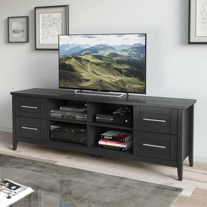 Black Extra Wide 70 Inch Tv Stand Jackson