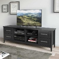 Black Extra Wide TV Stand (71 Inch) - Jackson