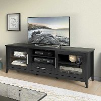 Black Extra Wide 70 Inch TV Stand - Jackson