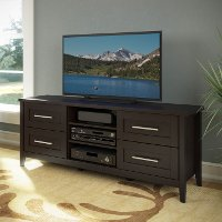 Espresso Brown Transitional 60 Inch TV Stand - Jackson