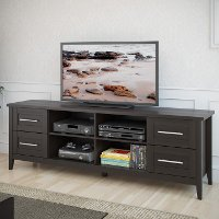 Black Transitional 70 Inch TV Stand - Jackson