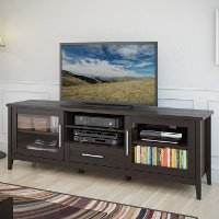 Espresso Brown Transitional 70 Inch TV Stand - Jackson