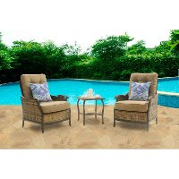 HUDSONSQ3PC Outdoor 3 Piece Lounge Set - Hudson Square