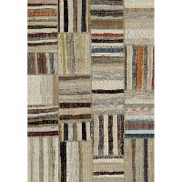 8 x 11 Large Transitional Ivory Area Rug - Diamond
