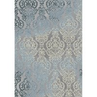 8 x 11 Large Gray and Blue Rug - Thelma