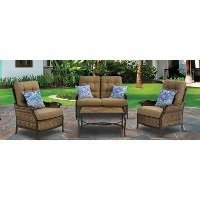 Hanover Outdoor Hudson Square 4 Piece Deep Seat Lounge Set