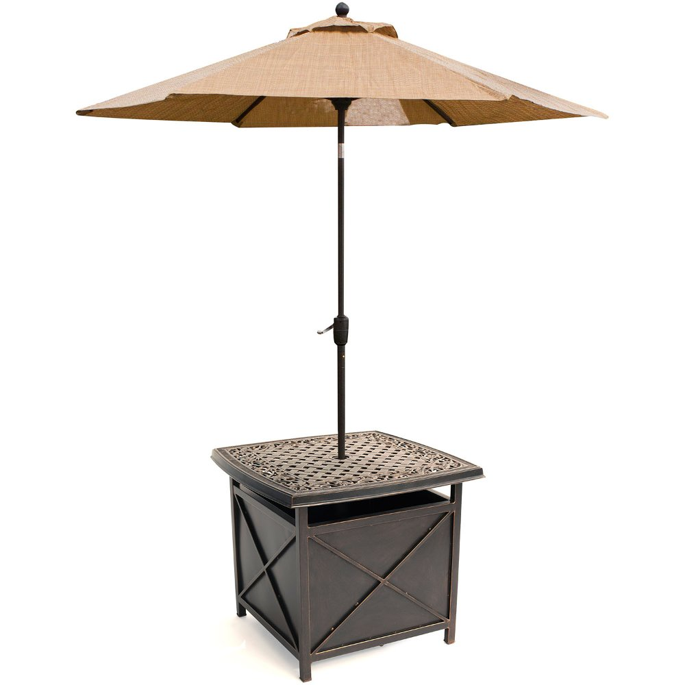 Outdoor Cast Top Side Table U0026 Umbrella Stand   Traditions | RC Willey  Furniture Store