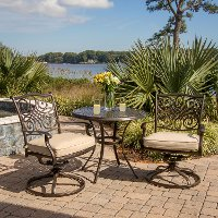 TRADITIONS3PCSW Tan and Brown 3 Piece Outdoor Patio Dining Set - Traditions