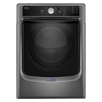 MED5500FC Maytag Electric Front Load Dryer - 7.4 cu. ft. Black Stainless Steel