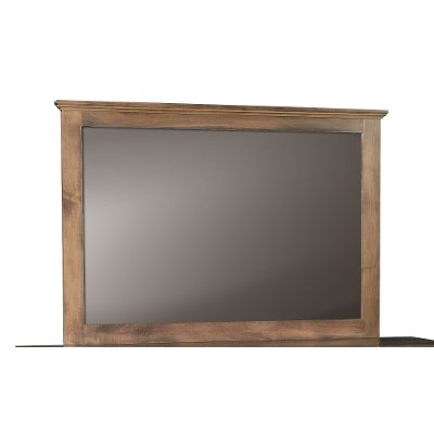 Driftwood Brown Classic Mirror - Amish