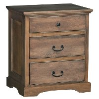 Driftwood Brown Classic Nightstand - Amish