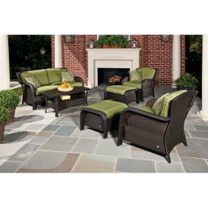... STRATHMERE6PC Hanover Outdoor Strathmere 6 Piece Lounge Set Free  Shipping