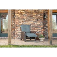 STRATHRECBLU Outdoor Luxury Recliner - Strathmere