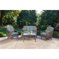 VENTURA4PC-BLU Ocean Blue 4 Piece Outdoor Patio Furniture Set - Ventura