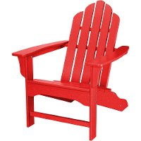 HVLNA10SR Red Outdoor Contoured Chair - Adirondack