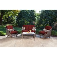 VENTURA4PC-RED Outdoor 4 Piece Patio Set - Ventura