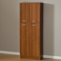 10102 Cherry 4-Door Storage Pantry - Axess