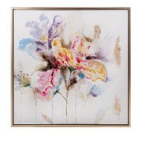 Delicate Multi Color Framed Oil Painting Wall Art