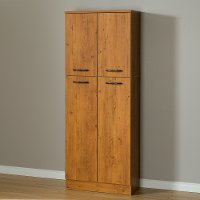 10103 Country Pine Four Door Storage Pantry - Axess