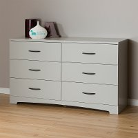 10105 Soft Gray Double Dresser - Step One