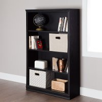 10141 Black Oak 4-Shelf Bookcase - Morgan