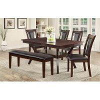 Dark Cherry 6 Piece Dining Set - Brent
