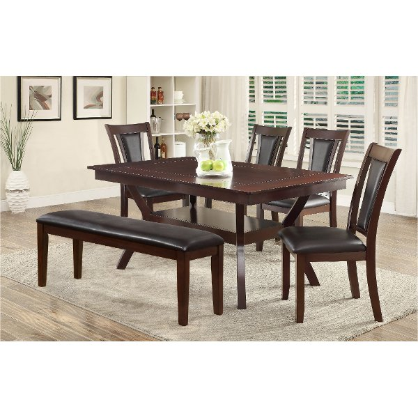 ... Dark Cherry 6 Piece Dining Set   Brent
