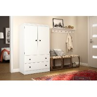 10172 White Armoire - Morgan