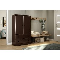 10175 Chocolate Armoire - Morgan