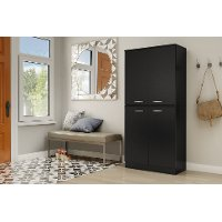 10178 Black 4-Door Storage Armoire - Axess