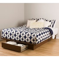 10336 Brown Walnut Platform Storage Bed - Primo