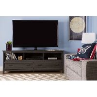 Gray Oak Tv Stand Exhibit Rc Willey Furniture Store