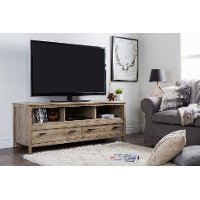 10394 Weathered Oak TV Stand - Exhibit