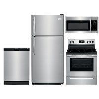 SS-4PC-ELE-PACKAGE Frigidaire 4 Piece Electric Kitchen Appliance Package with 18 Cu. Ft. Refrigerator - Stainless Steel
