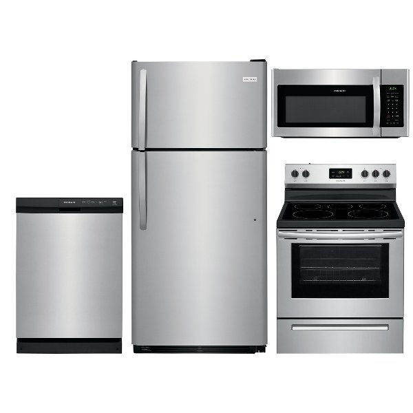 Exceptional ... Stainless Steel 410994 SS 4PC ELE PACKAGE Frigidaire 4 Piece Kitchen  Appliance Package With Electric Range
