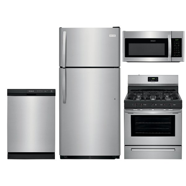 Great ... Stainless Steel178997 SS 4PC GAS PACKAGE Frigidaire 4 Piece Kitchen  Appliance Package With Gas Range