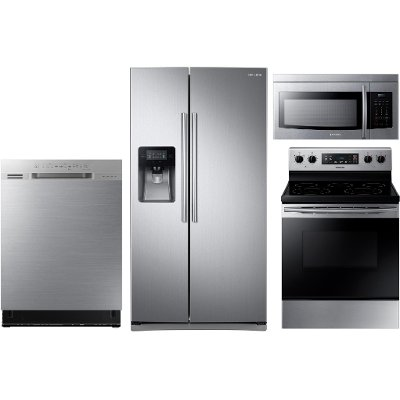 Exceptionnel KIT Samsung 4 Piece Kitchen Appliance Package   Stainless Steel