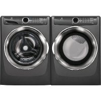 KIT Electrolux Titanium Gas Steam Front Load Washer and Dryer Laundry Pair