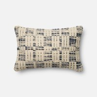 Magnolia Home Furniture Blue and Ivory Throw Pillow