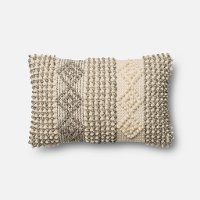 P0461MH Magnolia Home Furniture Ivory and Gray Throw Pillow