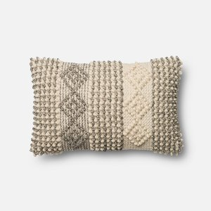 ... Magnolia Home Furniture Ivory And Gray Throw Pillow