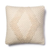 P1007MH Magnolia Home Furniture Ivory Square Throw Pillow