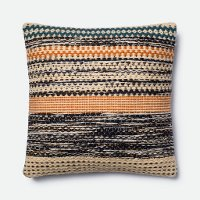 Magnolia Home Furniture Orange and Blue Throw Pillow